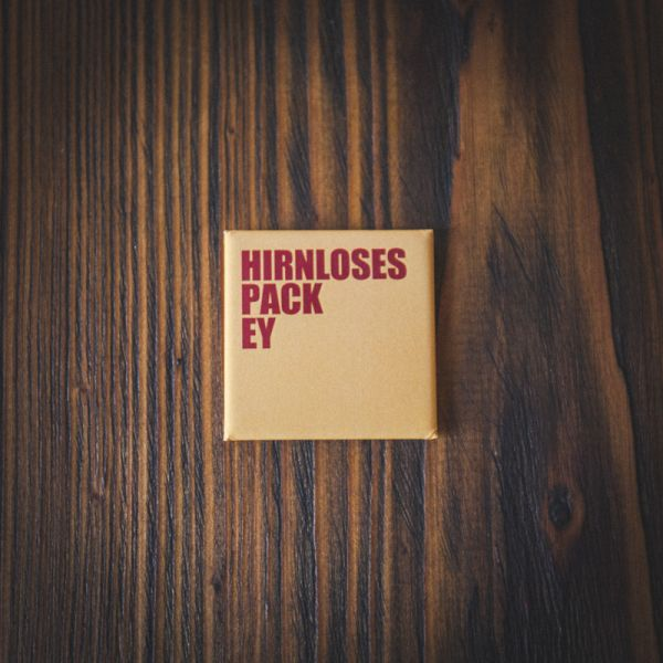 "Magnet ""HIRNLOSES PACK EY"" (gelb/rot)"