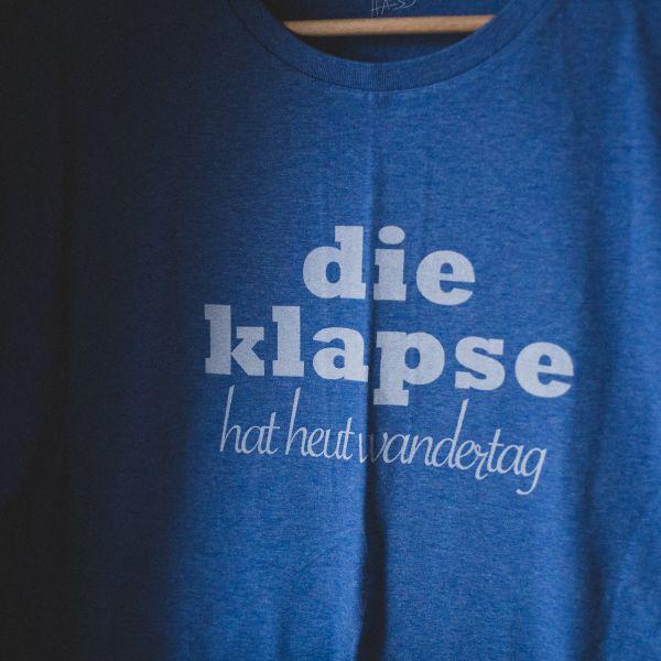 """( XXL ) T- Shirt """"DIE KLAPSE HAT HEUT WANDERTAG"""" - Mann"""