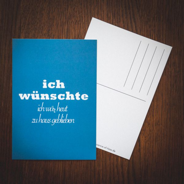 "Postkarte ""zuhause"""