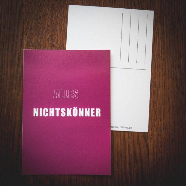 "Postkarte ""ALLES NICHTSKÖNNER"""