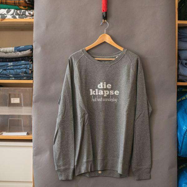 "( XL ) - Sweater / Pulli ""DIE KLAPSE HAT HEUT WANDERTAG""-Copy"